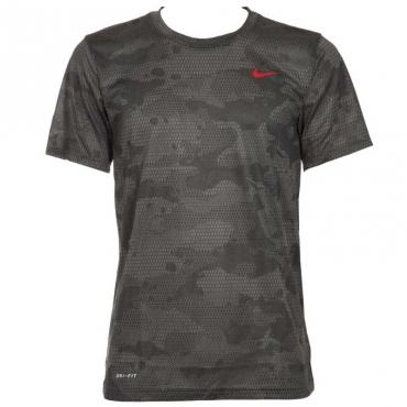 T-Shirt traspirante grigia camouflage 069IRONGREY/
