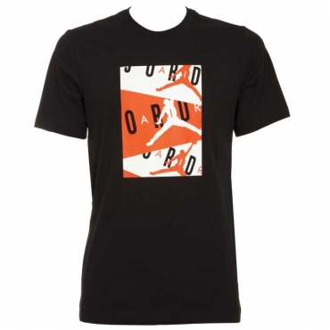 T-Shirt Air nera con logo fluo 010BLACK/INF