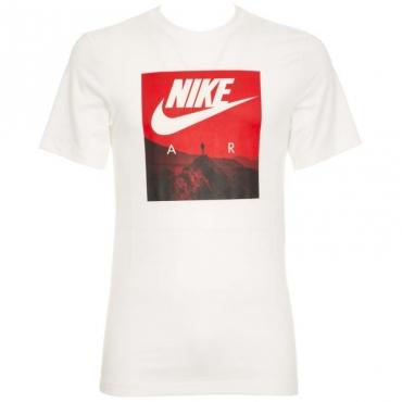 T-Shirt Air bianca con stampa rossa 100WHITE