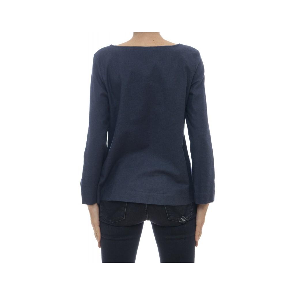 Shirt woman - Mia 95131 flannel shirt rouge 002 - Blue