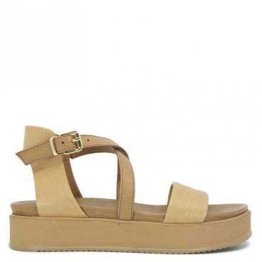 Sandalo in cuoio con suola over SCISSORS
