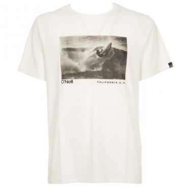 T-Shirt Photoprint con stampa centrale 1030POWDERWH