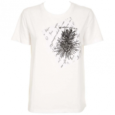 T-shirt con patch frontale WHITE