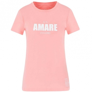 T-shirt con Lettering frontale ROSE AMARE