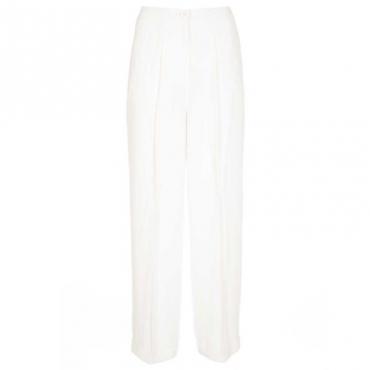 Pantalone a palazzo in tinta unita OFF WHITE