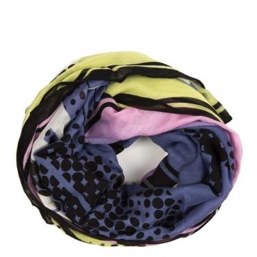 Scialle multicolore con logo NIEMEYER PRINT