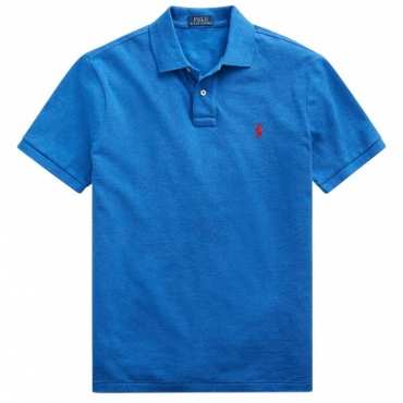 Polo blu Custom Slim Fit DOCKSIDEBLUE