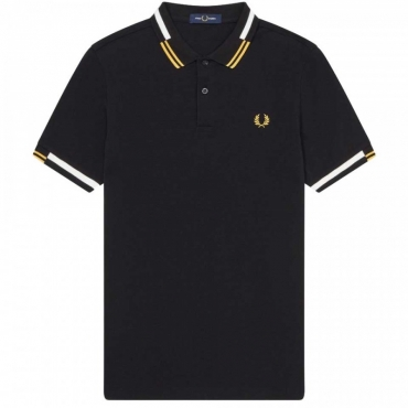 Polo regular fit con righe 102BLACK