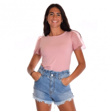 T-shirt manica organza CIPRIA