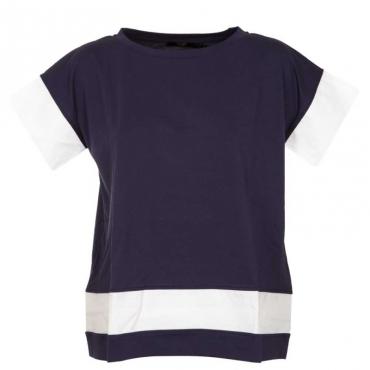 T-Shirt classica nera in cotone 745BLU