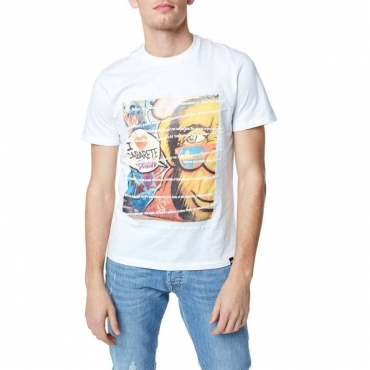 T-shirt con stampa Art Life 0001WHITE