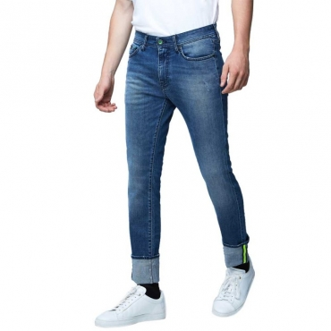 Jeans Albert Simple con dettagli fluo WN97
