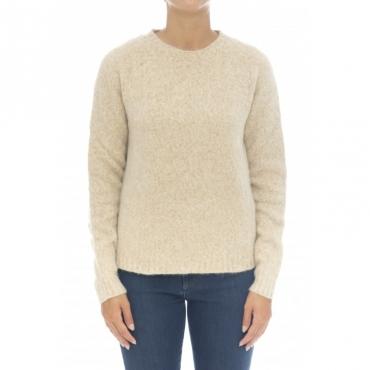 Maglieria - D11001 maglia giro cotone alpaca 4 - Cammello