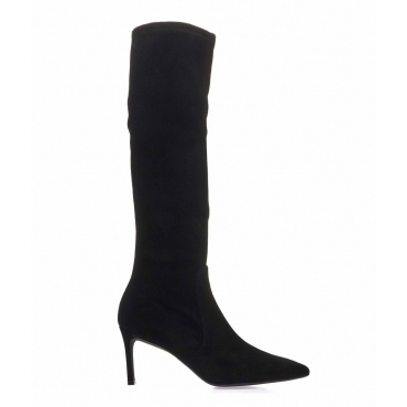 High Suede boot Wanessa 75 nero