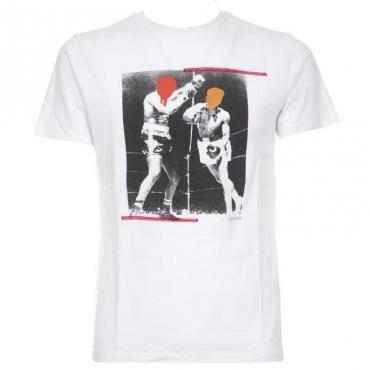 T-shirt con stampa boxe BIANCO