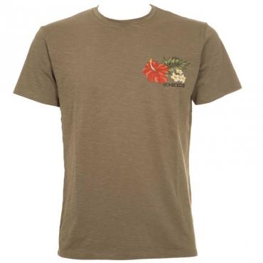 T-shirt vintage con stampa floreale 00OPTICWHITE
