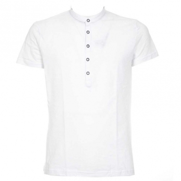 T-Shirt in cotone con bottoni 10