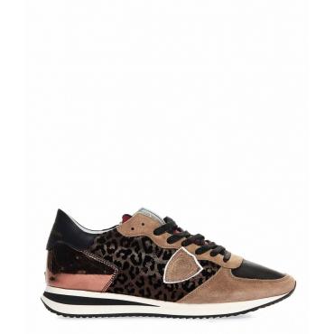 Animalier-Sneaker Triple L Beige