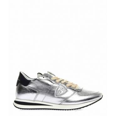 Metallic Sneaker Triple L argento