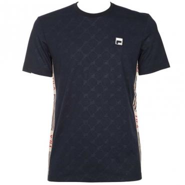 T-shirt con logo all over e bande 170