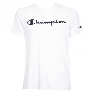 T-shirt con logo in contrasto WW001WHT