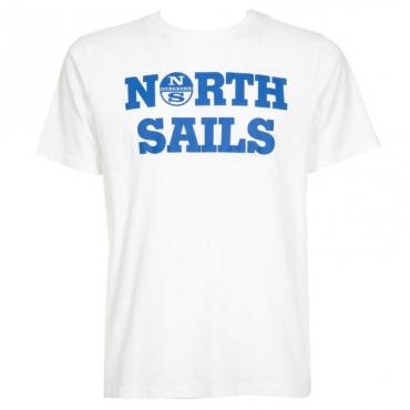 T-Shirt in cotone con logo maxi 0101WHITE