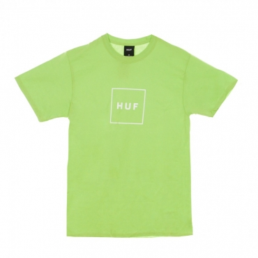 MAGLIETTA ESSENTIALS BOX LOGO HUF GREEN