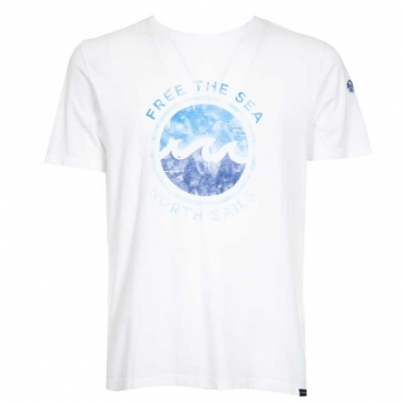 T-Shirt Free The Sea in cotone C001COMBO1