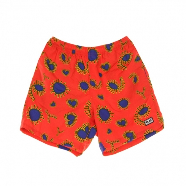 PANTALONCINO EASY RELAXED AMOEBA RED MULTI