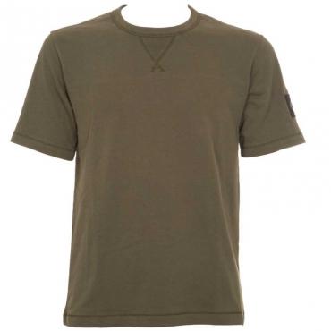 T-shirt in jersey di cotone con stemma YAFBRIGHTWHI