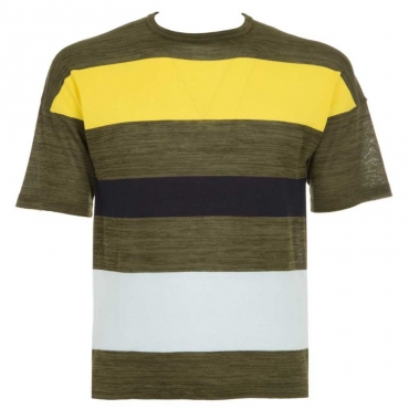 T-shirt in filo di cotone melange 38