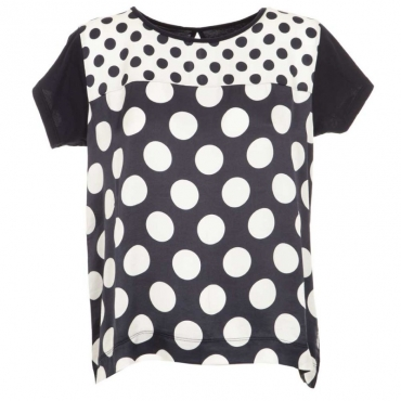 T-Shirt a pois bicolori 18709