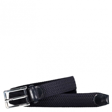 Cintura blu con fibbia argentata 013