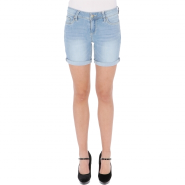 SHORTS ALEXA DENIM W TIMEZONE bleached blue wash