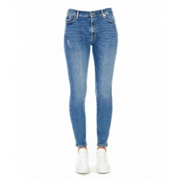 Skinny Cropped Jeans blu