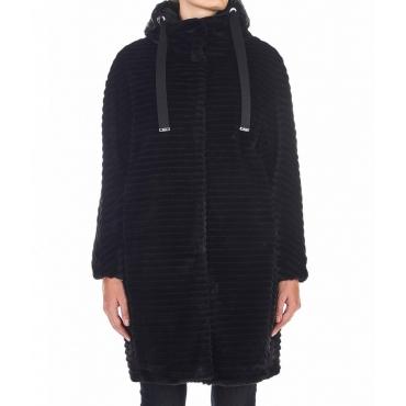 Cappotto in Eco-pelliccia nero