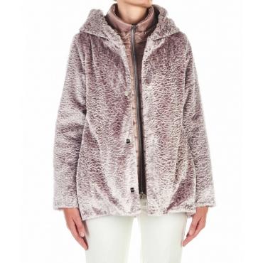 Cappotto in eco pelliccia lill