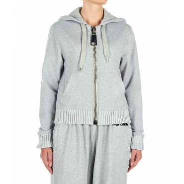 Zipped hoodie grigio