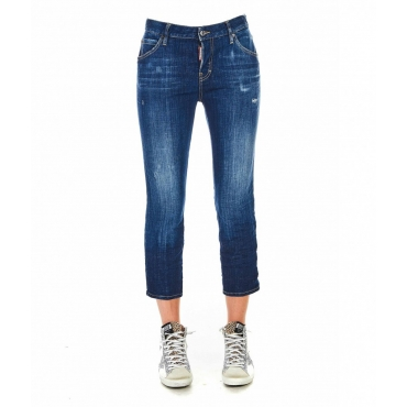 Jeans Cool girl cropped blu