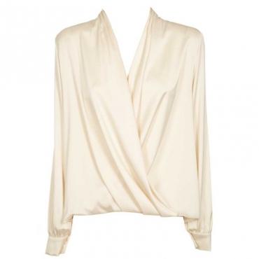 Blusa in georgette asimmetrica B038AVORIOBI
