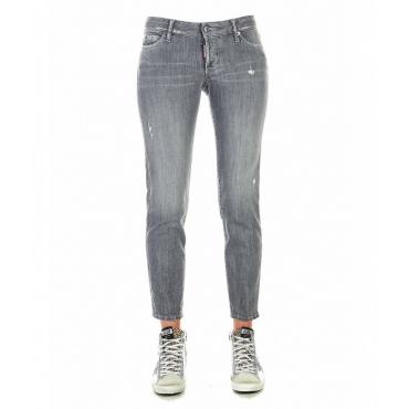 Jeans Jennifer cropped grigio