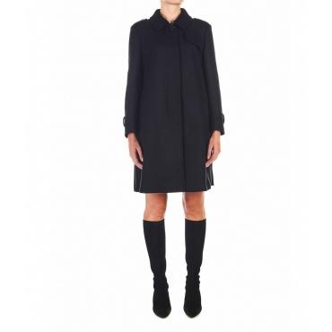 Cappotto con cintura in vita nero