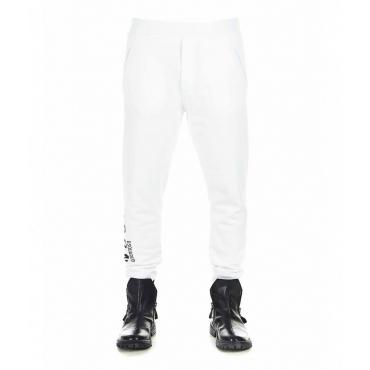 Pantalone jogging con scritta logo bianco