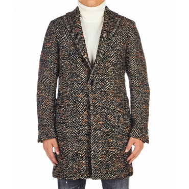 Cappotto boucl marrone