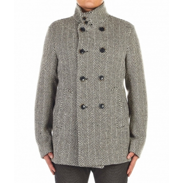 Giacca in lana vergine marrone