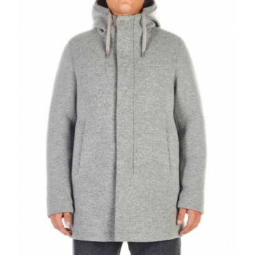 Cappotto in misto lana grigio chiaro