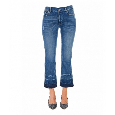 Jeans Cropped Boot Unrolled blu