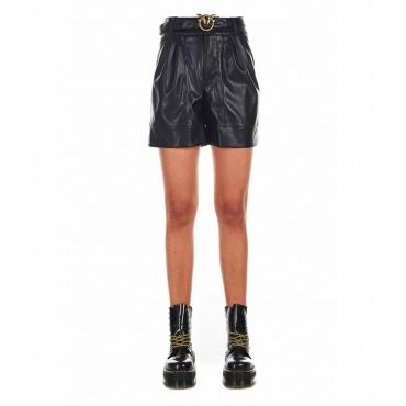 Shorts in eco pelle Biagio nero