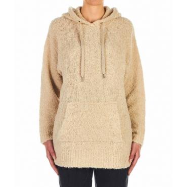 Sweater Sinai mit Kapuze Beige