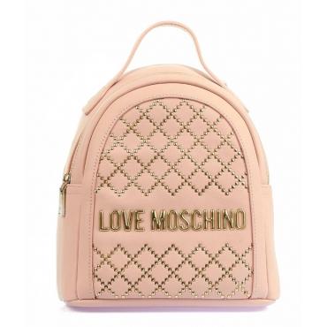 Zaino con borchie rosa chiaro